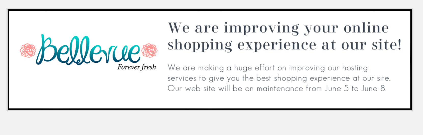 Bellevue Roses Improving Web Site